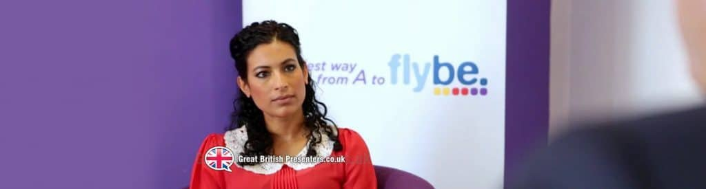 Hire Buisness broadcast journalist presenter host Nadira at Great British Presenters