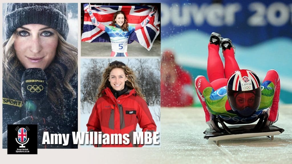 Amy Williams MBE World Olympics former skeleton racer and 2010, Olympic gold medallist at Great British Speakers