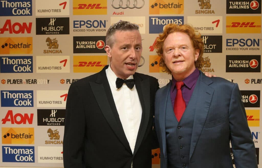 Andy Hogson at Great British Presenters and Mick Hucknall