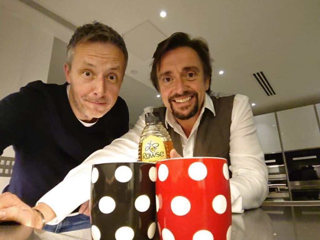 Andy Hogson at Great British Presenters with Top Gears Richard Hammond