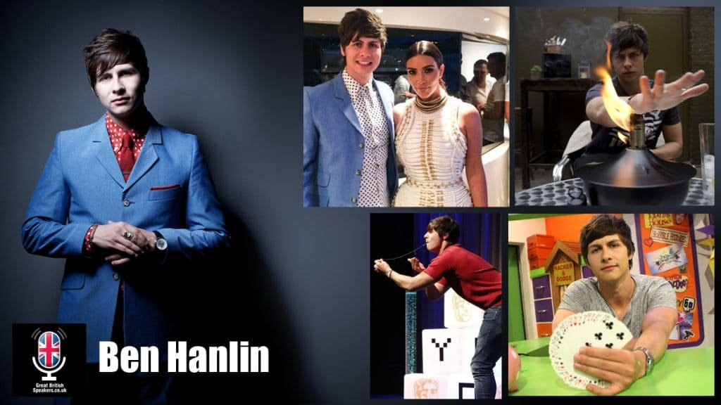 Ben Hanlin ITV Tricked star magician entertainer broadcaster presenter illusionist at Great British Speakers