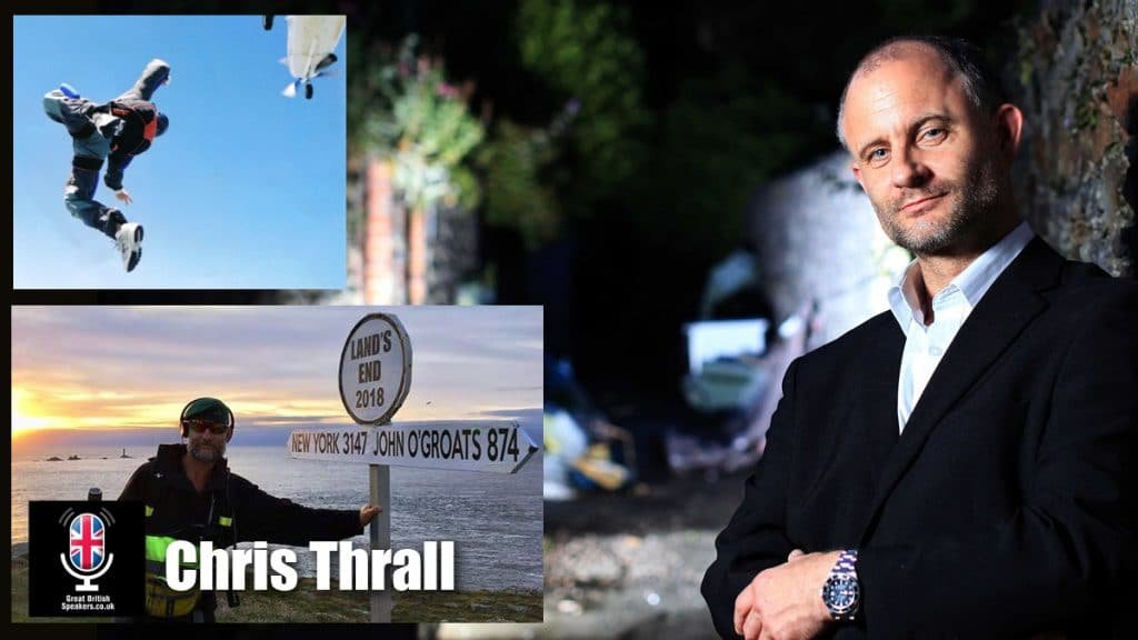 Chris Thrall military drug survivour mental health expert at Great British Speakers