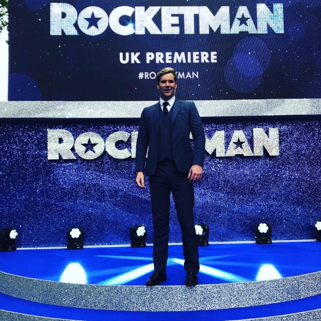 Craig Stevens Book Host Compere Emcee SKY Movies at Great British Speakers Rocketman Premiere
