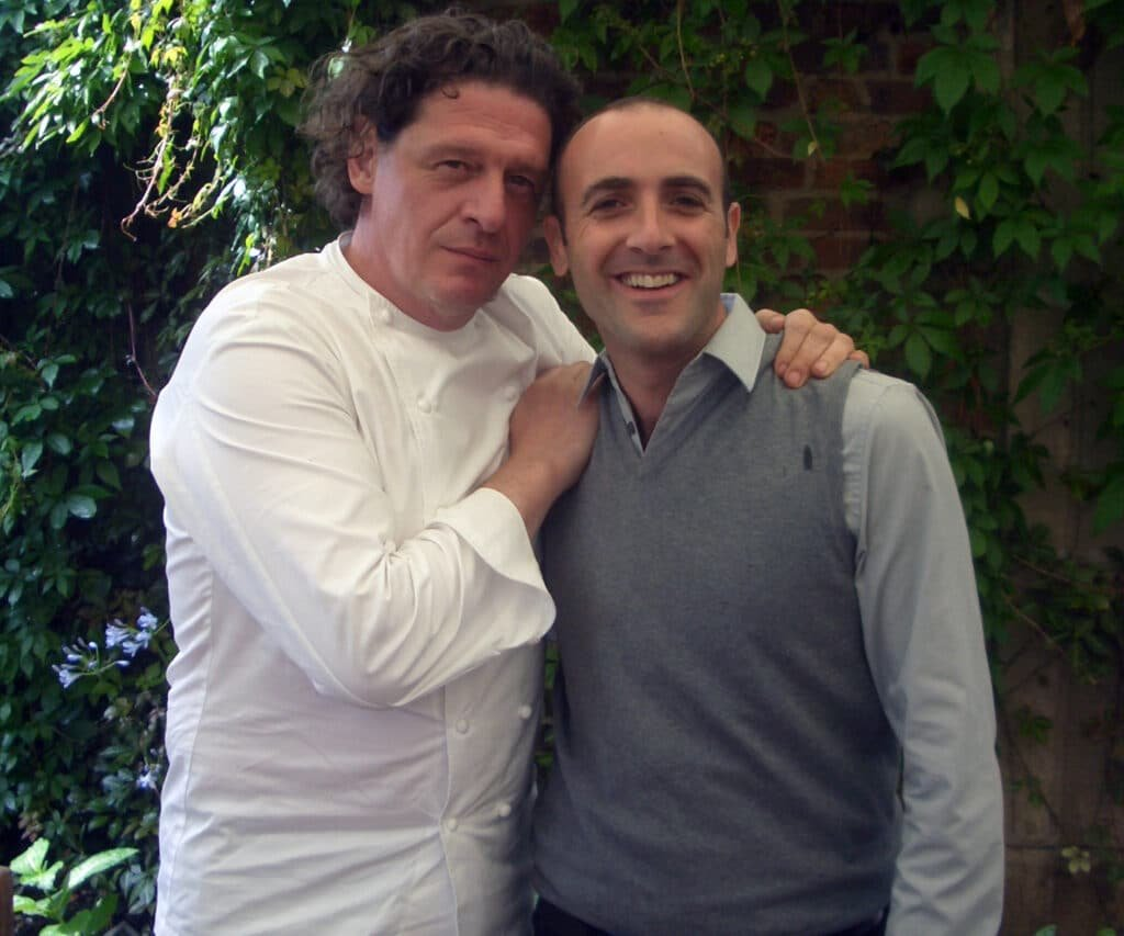 Gary Hirst at Great British Presenters with Marco Pierre White