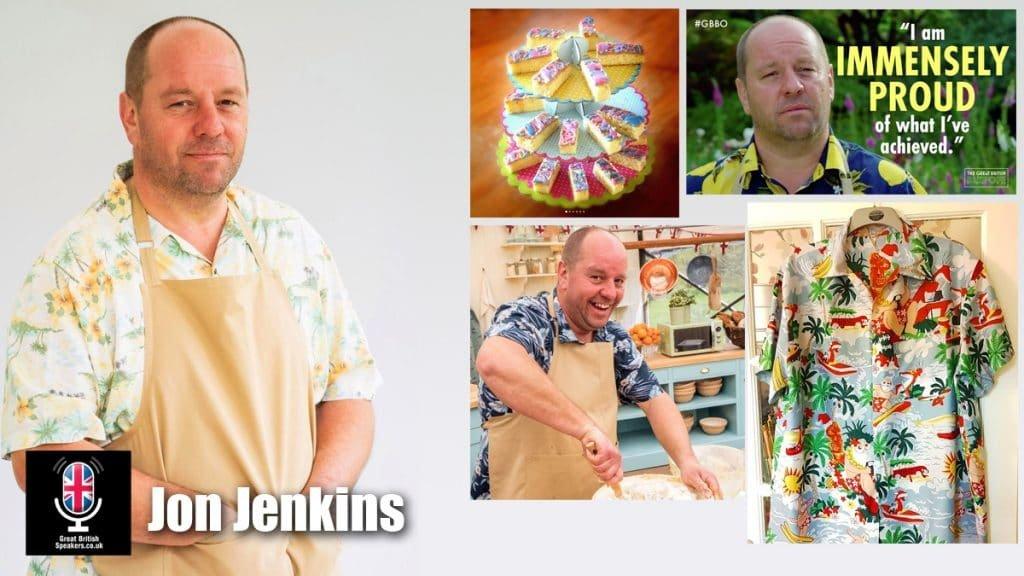 Jon Jenkins hawaiian shirt GBBO Bake Off Welsh Baker at Great British Speakers