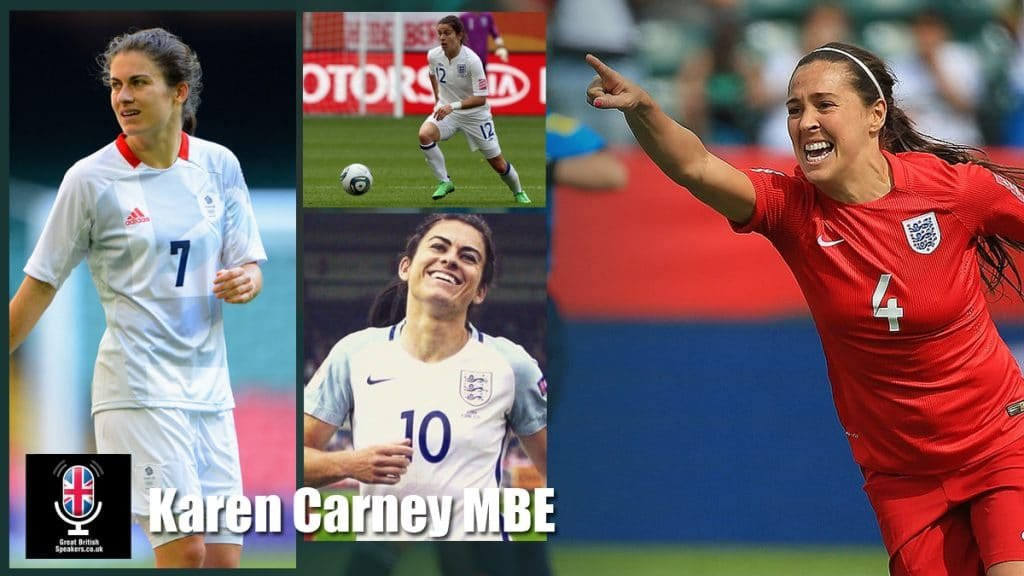 Karen-Carney-MBE-Female-womens-Chelsea-English-football-soccer-star-at-Great-British-Speakers