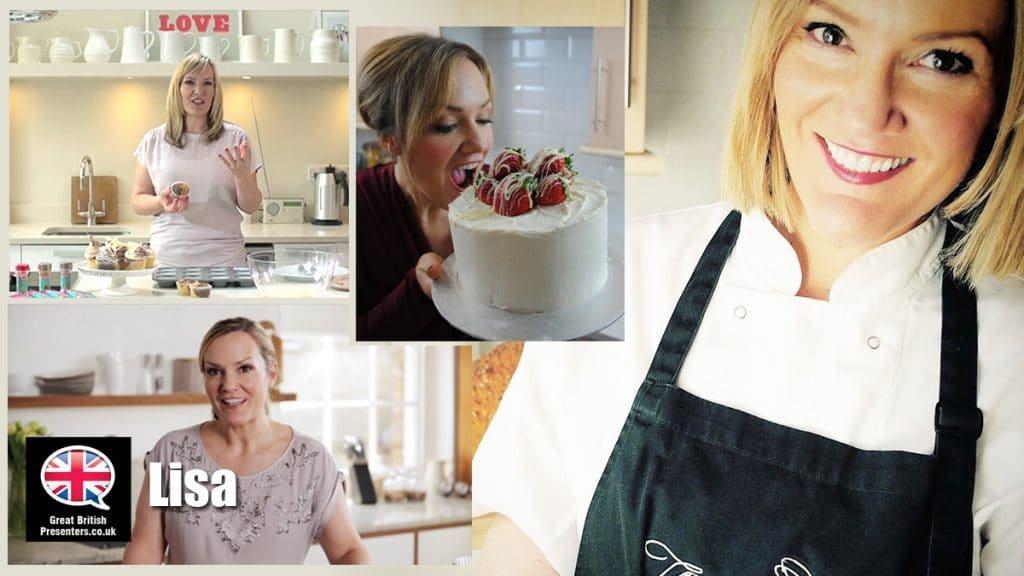Lisa pastry chef TV video presenter at Great British Presenters