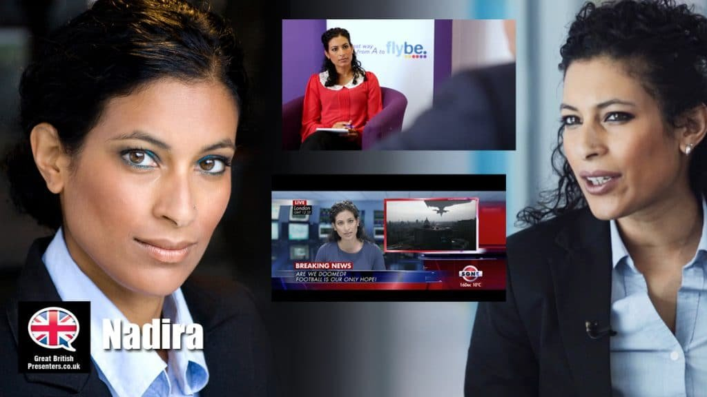 Nadira broadcast journalist presenter at Great British Presenters