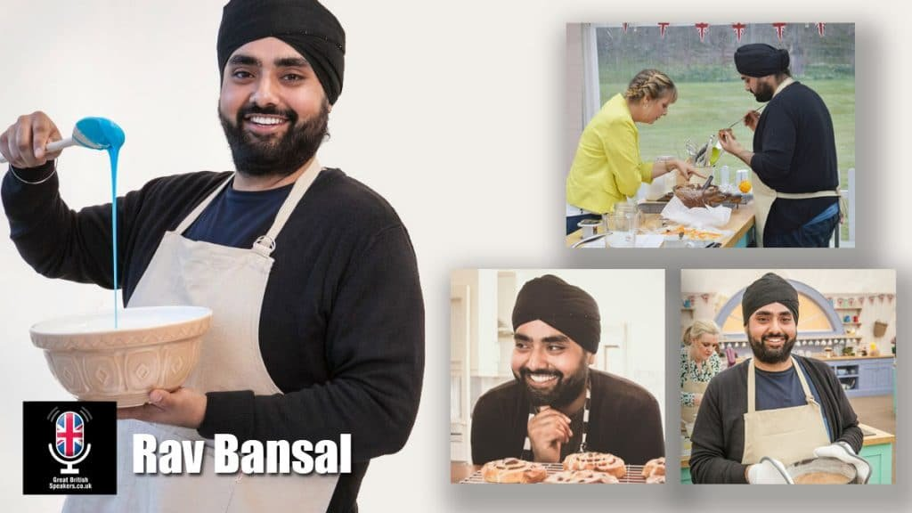 Rav Bansal Great British Bake Off baker book at Great British Speakers