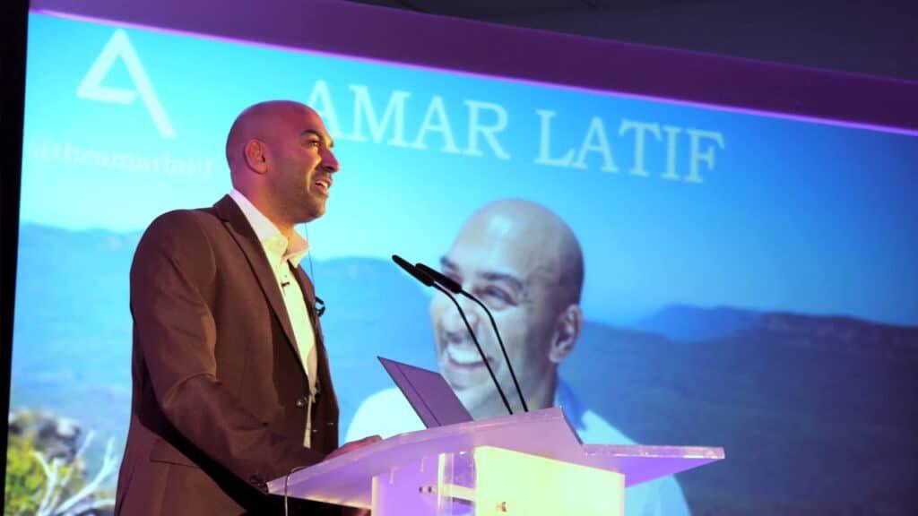 Amar Latif inspirational travel entrepreneur motivational speaker TV presenter at Great British Speakers
