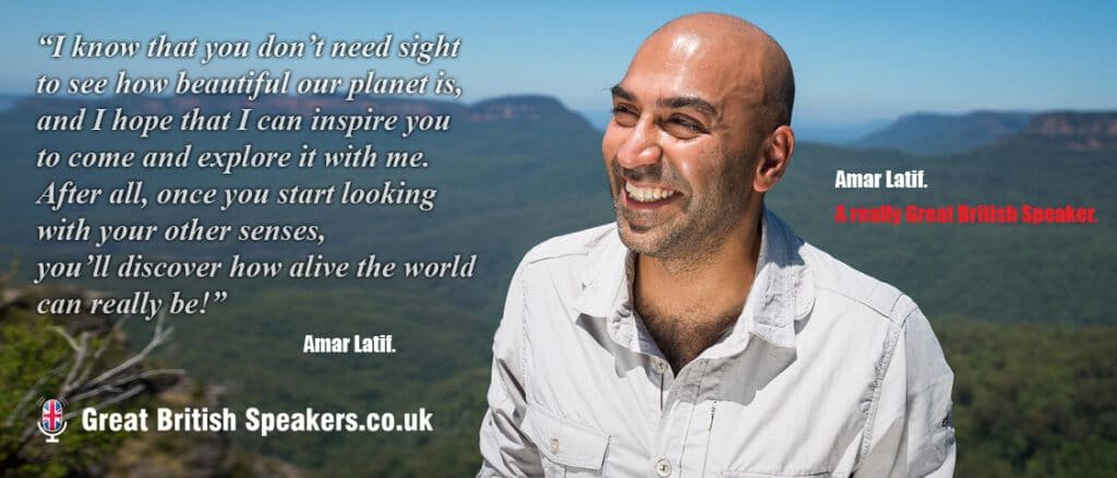 Amar Latif inspirational travel entrepreneur speaker TV presenter host at Great British Speakers