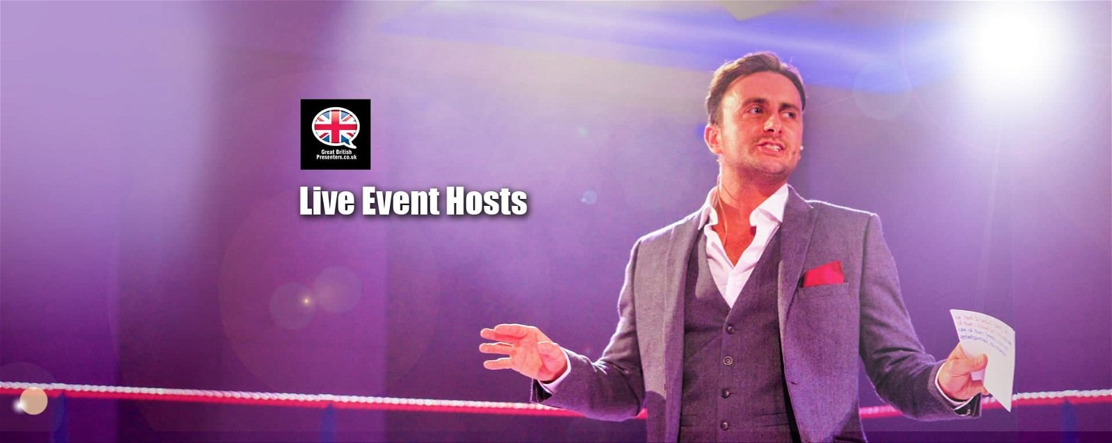 Corporate Live special Event Hosts party entertainers at Great British Presenters-min