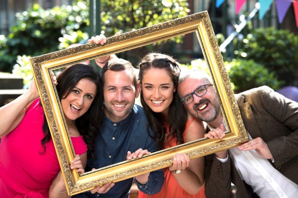 David Farrell Zara Janjua book presenters hosts at Great British Presenters