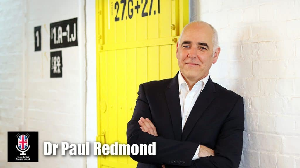 Dr Paul Redmond author keynote employment guru Millennials Generation X Future work wellbeing Graduate Recruitment speaker at Great British Speakers