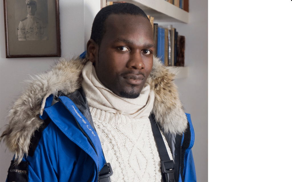 Dwayne Fields inspirational BAME British Polar Adventurer motivational speaker at Great British Speakers