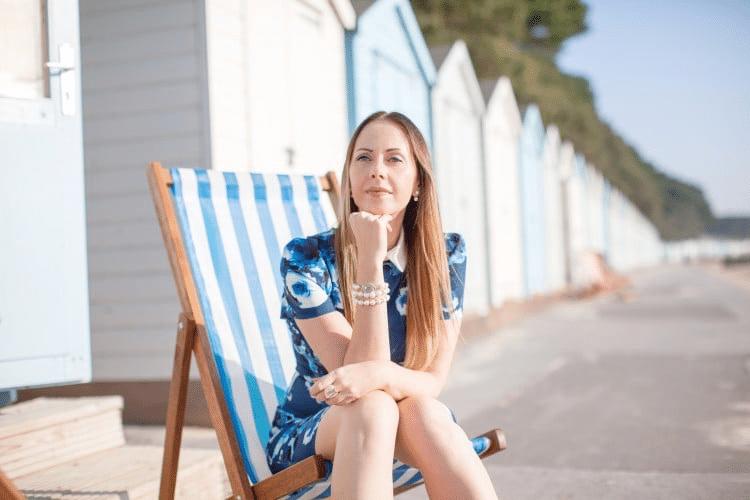 Fashion presenter Rhiannon beauty style blogger tv presenter at Great British Presenters