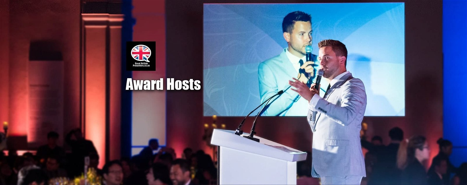 International Professional corporate Award live Hosts at Great British Presenters-min