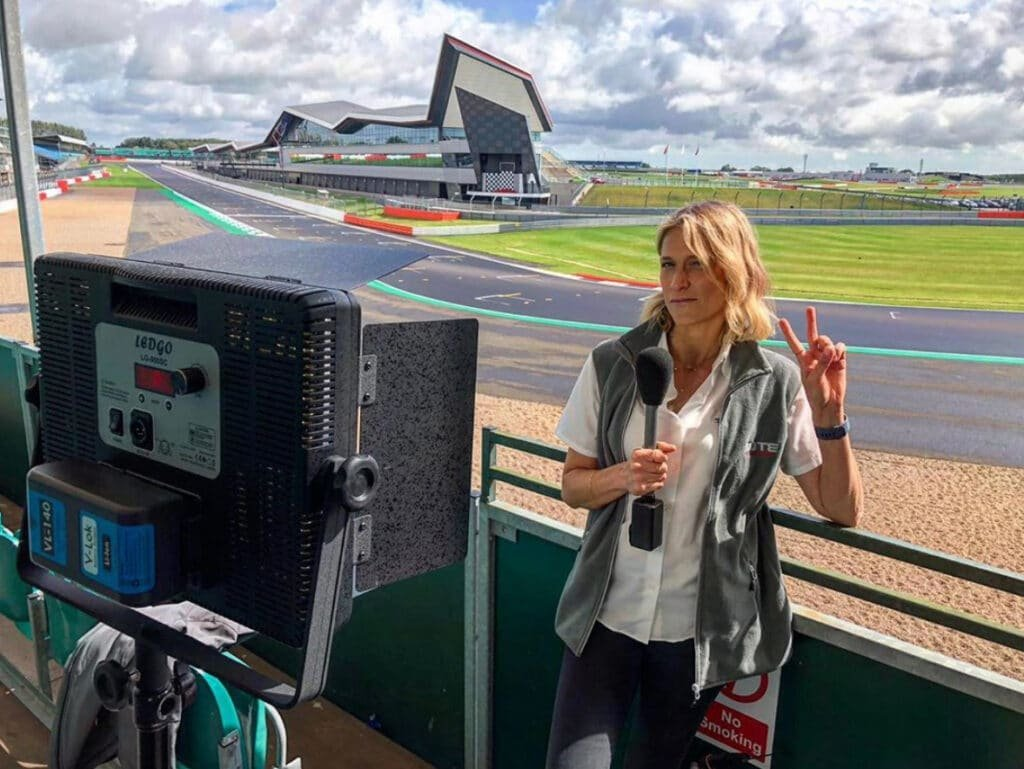 Michelle Livings Female Motorsport Tech TV presenter at Great British Presenters
