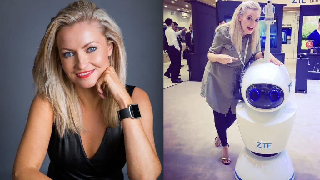 Nikki Dean English international technology presenter live host at Great British Presenters