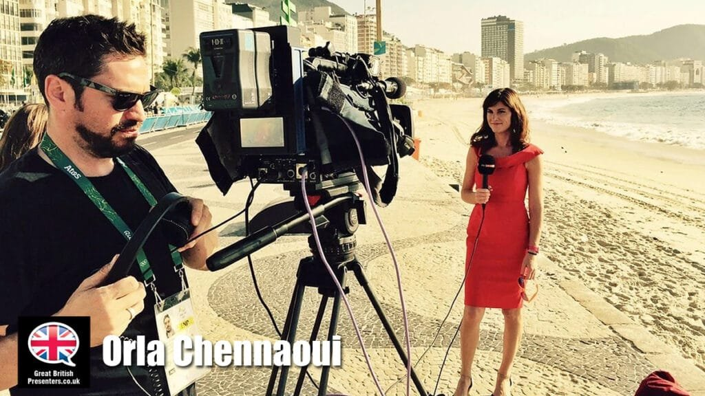 Orla Chennaoui hire multi lingual SKY sports presenter journalist rreporter at Great British Presenters