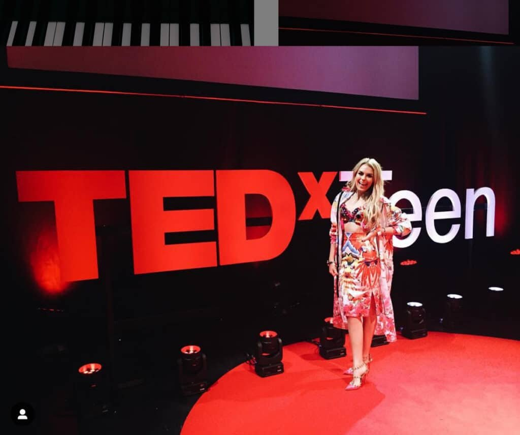 TALLIA-STORM TEDx Teen Singer presenter influencer book at Great British Presenters