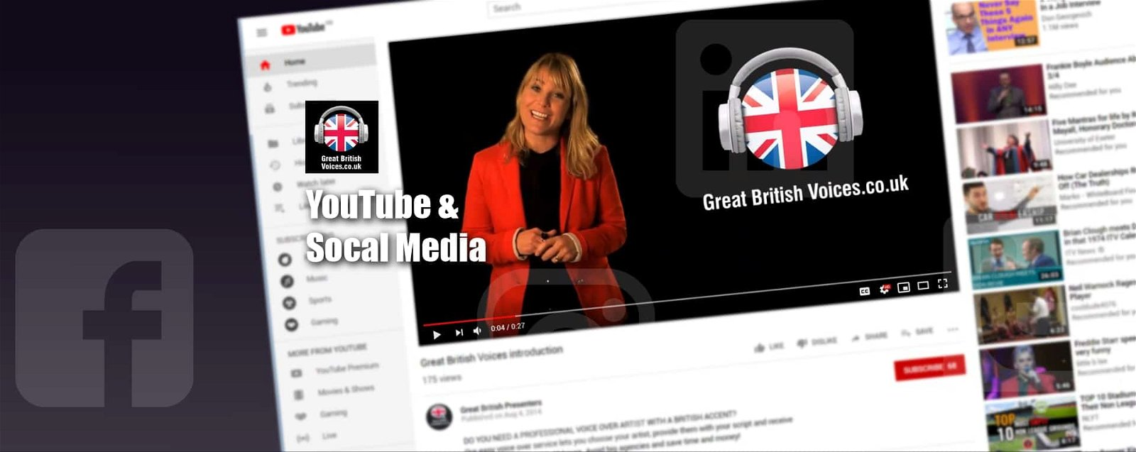 YouTube & Social Media Voices at Great British Voices-min