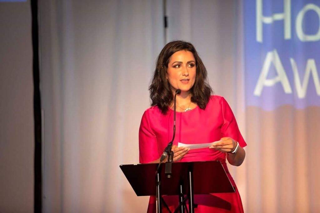 Zara Janjua Scottish STV Presenter Host Comedian at Great British Presenters