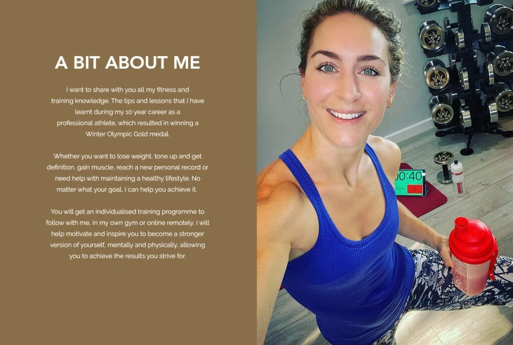 Amy Williams corporate personal training programmes at Great British Speakers