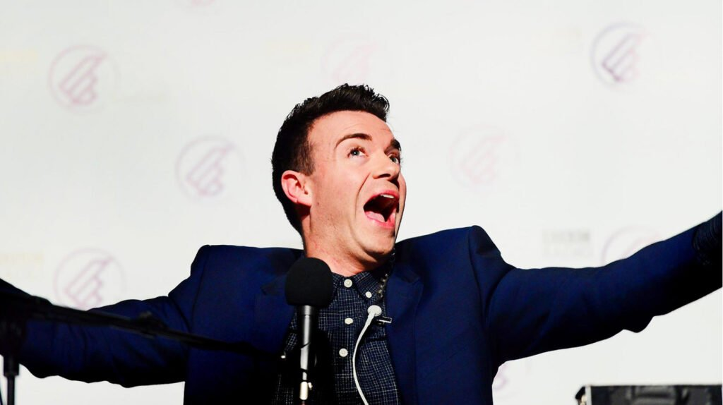 Des Clarke popular Scottish award winning comedian TV host at Great British Speakers