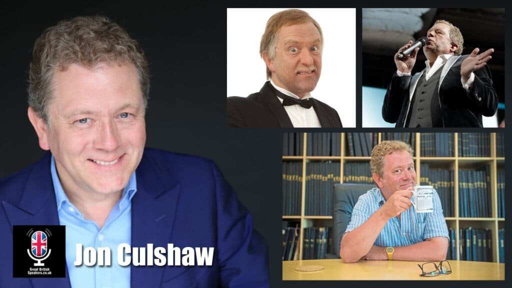 Jon Culshaw comedian impressionist after dinner speaker awards host book at Great British Speakers