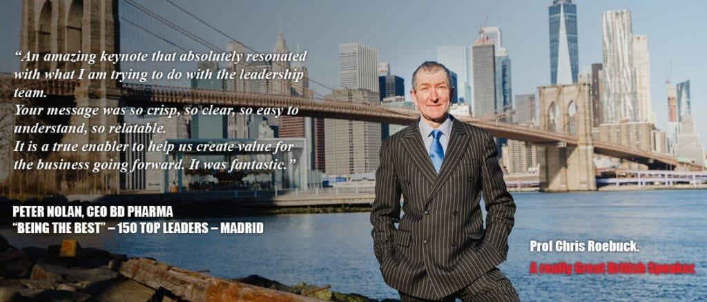Prof Chris Roebuck international corporate leadership keynote speaker at Great British Speakers