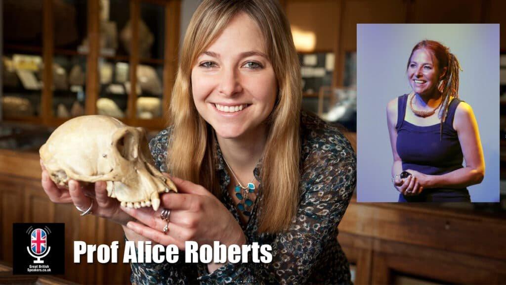 Professor Alice Roberts Anatomist Biological Anthropologist Author broadcaster speaker at Great British Speakers