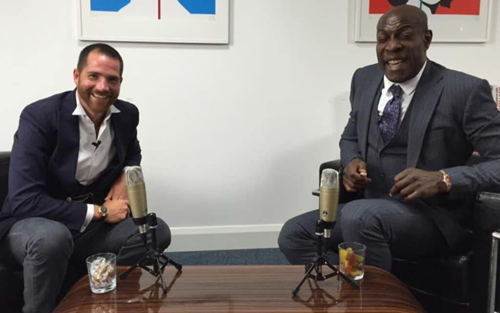 Rob Moore disruptive progressive Property entrepreneur investor Frank Bruno at Great British Speakers