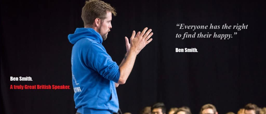 Ben Smith Motivational speaker LGBTQ resilience physical mental health book agent Great British Speakers