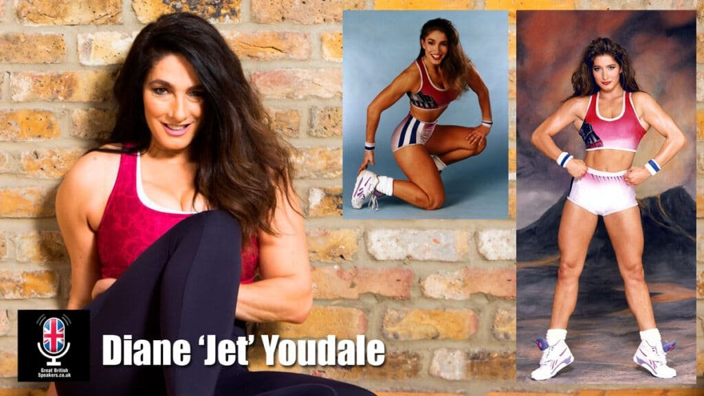 Diane Jet Youdale former Gladiator Psychotherapist Health Wellness expert Great British Speakers