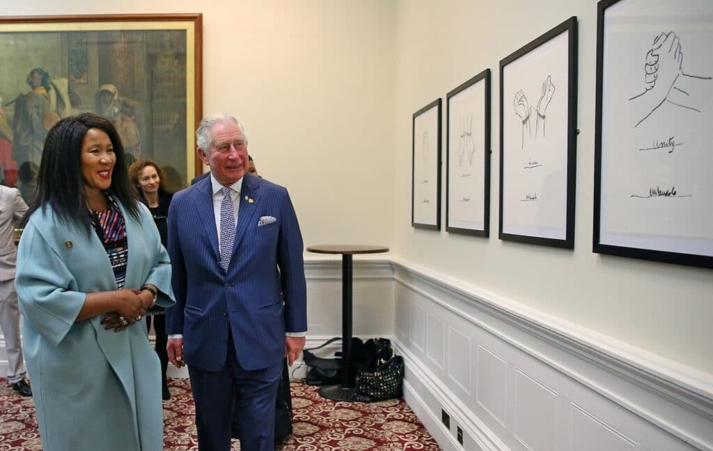 Dr-Maki-Mandela-and-Prince-Charles-at Great British Speakers