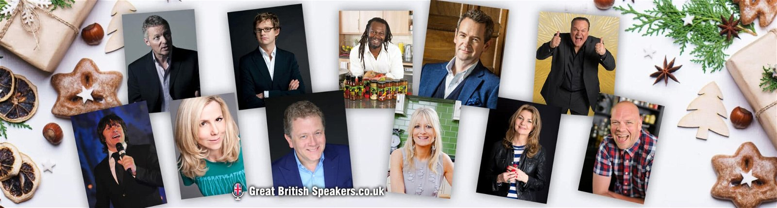 Christmas party virtual entertainment talent at Great British Speakers