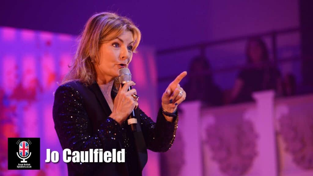 Jo Caulfield Comedian entertainer corporate awards event host at Great British Speakers