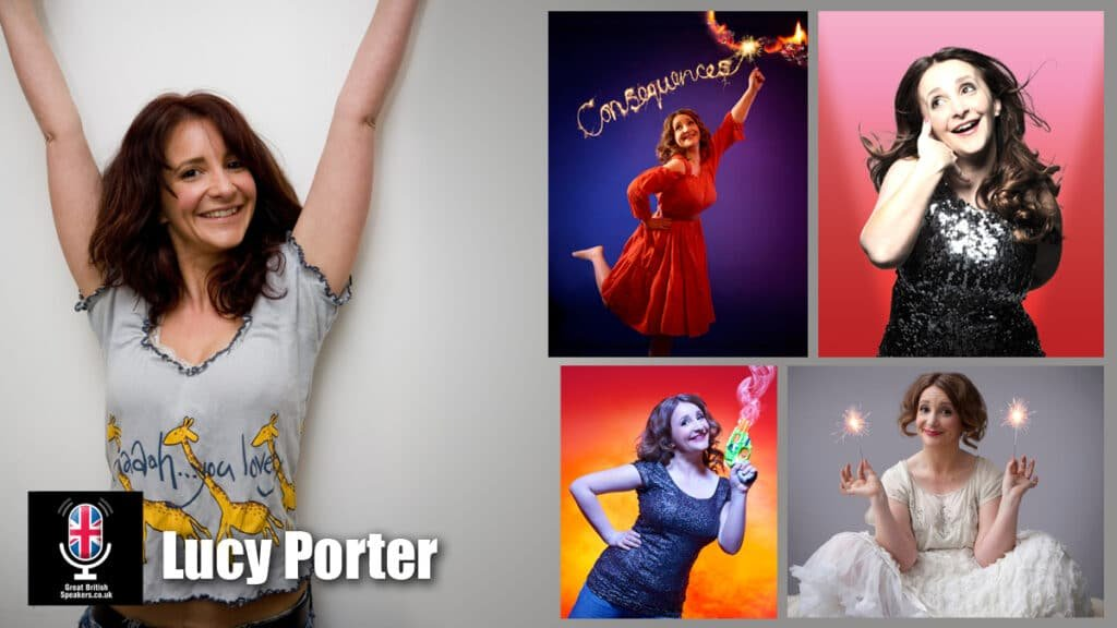 Lucy Porter stand up comedian corporate awards host after dinner speaker at Great British Speakers