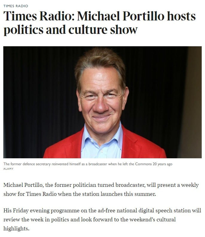 Nadira Tudor broadcast Journalist Michael Portillo Times Radio book at agent Great British Presenters