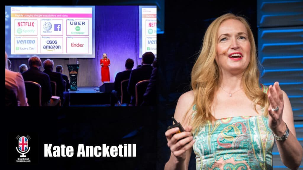 Kate Ancketill futurist tech consumer retail trends keynote speaker at Great British Speakers