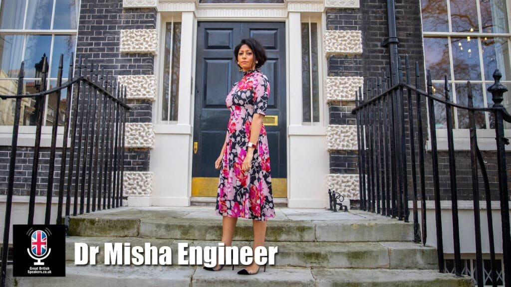 Dr Misha Engineer London female pharmaceutical entrepreneur healthcare motivational speaker at Great British Speakers