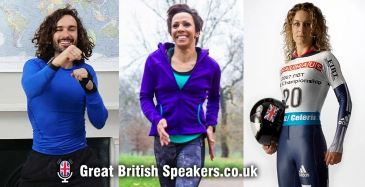 Keep active in lockdown with Kelly Holmes Joe Wicks and Amy Williams at Great British Speakers