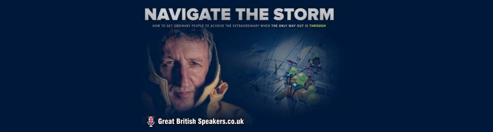 Mark Denton Teamwork speaker how to navigate the storm booking agent Great British Speakers
