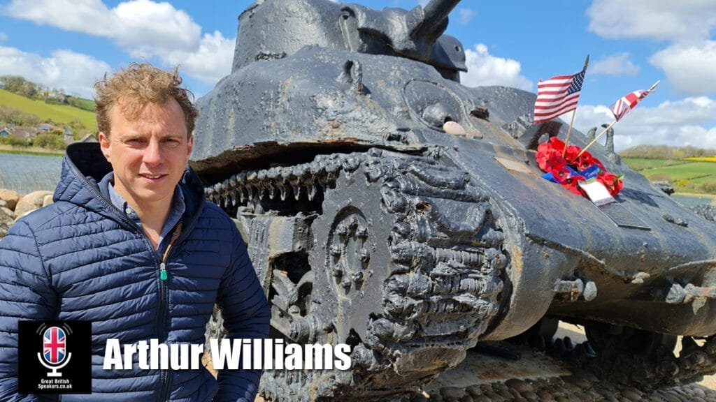 Book Arthur Williams hire ex Royal Marine Aviation expert Paralympic cyclist TV presenter motivational speaker at agent Great British Speakers